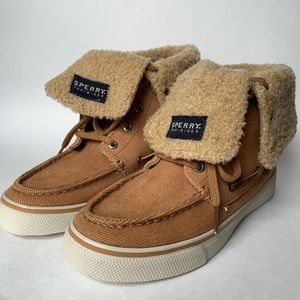 Sperry Abacus Sahara Faux Fur Corduroy Top Siders